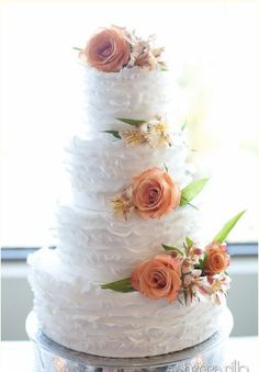 Ruffled flower cake