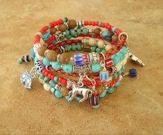 Southwest Bracelet, Boho Bracelet, Cowgirl Jewelry, Turquoise Jewelry, Rodeo
