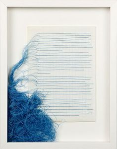 NIINA VATANEN # 30, 2010, sewing on paper and on cardboard, 23 x 30 cm (without the frame)
