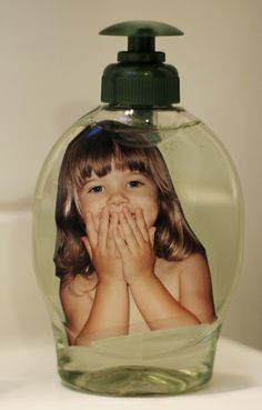 No need to remind kids to wash their hands when they have their own personalized soap bottle.