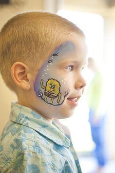 Spongebob Party Face Paint