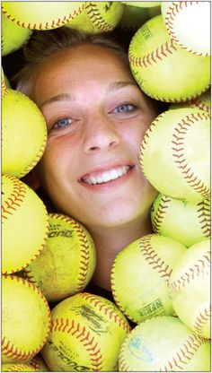 softball senior picture but use baseballs too! Liles *When you announce your big A scholarship for you mad skills! Cute Senior Pictures, Sports Pictures, Senior Photos, Senior Portraits, Softball Senior Pictures, Girls Softball, Softball Stuff, Senior Softball, Softball Party