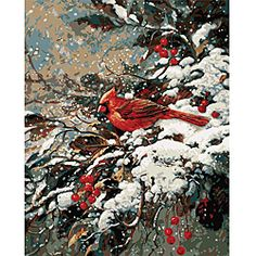 Paint By Number 'Early Snow' Kit. Doesn't even look like one, does it?