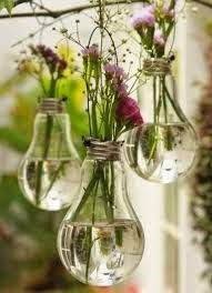 DIY light bulb planters and other great eco-friendly wedding décor. | http://www.beautiful-bridal.blogspot.com/