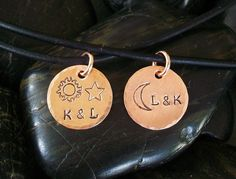 My SUN and STARS MOON of My Life His & Hers by TinyTreeTreasures