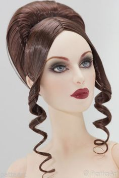 Vintage Updo #10.R03b  (Brunette)  Sybarite / The Numina Doll / JAMIEshow  Features:      Material = Katsilk Saran Doll hair      This wig is best fit for Sybarite clone 0104, clone 777, the Nunima by PAUL PHAM and NEW JAMIEshow dolls only.      For AG Avant Guard Doll; the wig is a little bit loose.