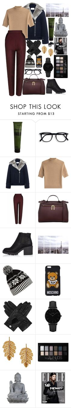 """""""city of dream"""" by maynarovich ❤ liked on Polyvore featuring Aesop, Carven, Theory, The 2nd Skin Co., Karen Walker, River Island, Art Addiction, WithChic, Moschino and Dents"""