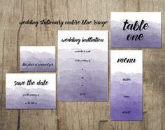 Ombre Wedding Range www.etsy.com/uk/shop/PippinPrints