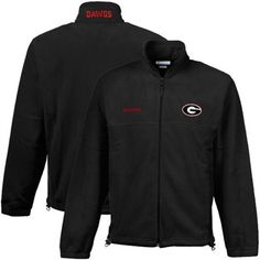 Get ready for cooler temps with this Georgia Flanker full zip fleece jacket from Columbia! Features radial sleeves and polyester MTR (maximum thermal retention) for ultimate comfort.     Lightweight full zip fleece jacket  Quality embroidery  Elastic cuffs  Bungee draw cord on hemline  Two zippered front pockets  Imported  100% Polyester  Officially licensed collegiate product  MTR (maximum thermal retention) fabric for ultimate warmth   $60.00