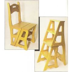 Convertible Step Stool & Chair Downloadable Plan