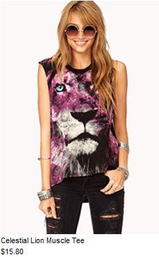 #f21 Celestial Lion Muscle Tee