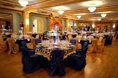 Masquerade ball love the gold and navy blue! Not the checkered print though