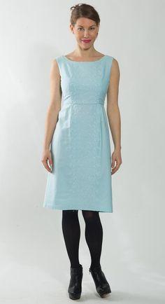 1960's Blue Dress  Vintage 1970's Wiggle Sheath by mijumaju, $65.00