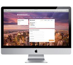 Trekrecord.com by Spyros Gangas, via Behance