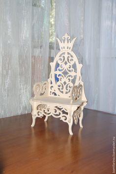 Купить или заказать Кукольный трон 'Трон царя Гороха', 'Трон для принцессы' 887 в интернет-магазине на Ярмарке Мастеров. Кукольный трон 'Трон царя Гороха', 'Трон для принцессы'. Заготовка для декупажа и росписи. Чудесная, изысканная работа, для ваших великолепных кукол и игрушек!