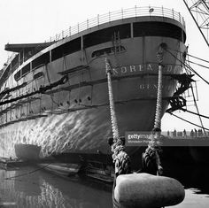 On This Day July 25 60 Years Since Ss Andrea Doria Collision Stock Pictures, Royalty-free Photos & Images