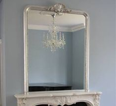 Large Neo Classical Overmantel Mirror by Overmantels