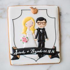 The Bride and Groom to be in giant cookie portrait form!  _ #sweetkiera #skcookies