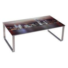 U.S. Pride Furniture Scenery Pattern Coffee Table - Dark City Lights - CT-237-5