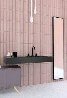 Interior Exterior, Interior Design, Downstairs Toilet, Modern Baths, Small Bathrooms, Minimalist Design, Bathroom Ideas, Mirror, Kitchen
