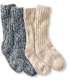 #LLBean: Women's Cotton Ragg Camp Socks,Two-Pack
