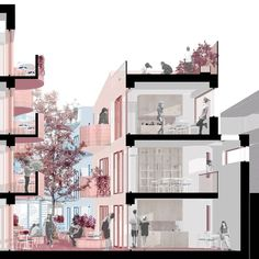 Vppr architects on we love a perspective section here s one t flat vector people illustration pack 6 Architecture Drawing Sketchbooks, Architecture Concept Drawings, Architecture Graphics, Futuristic Architecture, Landscape Architecture, Architecture Design, Architecture Diagrams, Pavilion Architecture, Islamic Architecture