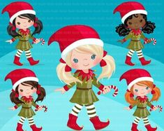 Cute noel illustration elves holding a Christmas Graphics, Christmas Clipart, Planner Stickers, Elf Clipart, 3 Reyes, Christmas Elf Costume, Baby Shower Clipart, Valentines Day Words, Christmas Snow Globes