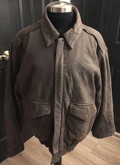 998d99ff6d men s G-III G-3 Authentic Bomber Leather Jacket Grayish Brown sz M
