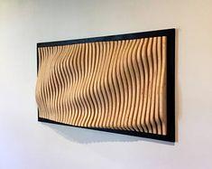 Wood Wall Art- Parametric Framed