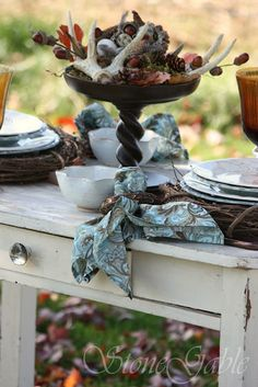StoneGable: Woodland Tablescape