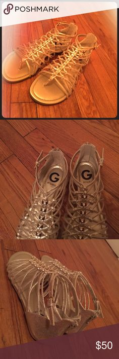 Brand new still have the box Golden guess shoes never worn before G by Guess Shoes Sandals