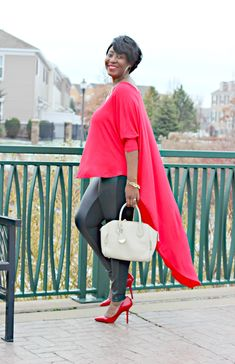 Red for the holidays | Red High-Low Duster