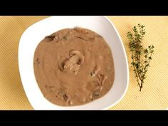 Homemade Cream of Mushroom Soup Recipe - Laura Vitale - Laura in the Kitchen Episode - YouTube...I'd use veggie broth and maybe olive oil to start in order to cut calories....