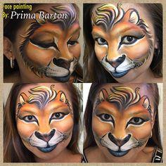 Lion my way... #PrimArte #primabarton #lionface #facepaintingrockhampton