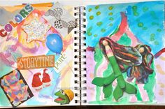 Great tips for beginning a family art journaling space.