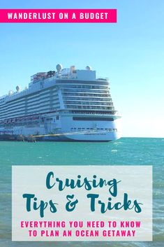 Want to book your first cruise, but you're not sure what's involved? No worries, check out this list of cruising tips and tricks to help you plan it! Learn about drink and photo packages, packing… Travelling Tips, Packing Tips For Travel, Travel Advice, Travel Essentials, Travel Hacks, Traveling Europe, Backpacking Europe, Packing Lists, Budget Travel