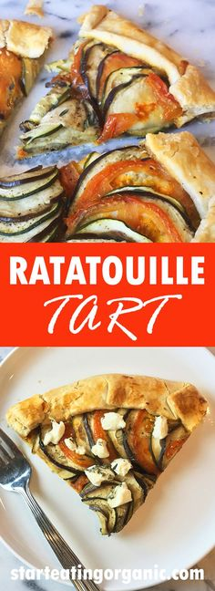 Easy Ratatouille Tart Recipe. Get all the traditional delicious flavors, in a fun & filling tart.