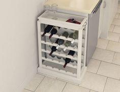 Build yourself a #wine rack to store your wines in a stylish way. | Construisez-vous un meuble pratique pour ranger vos bouteilles de #vin avec #style. #DIY