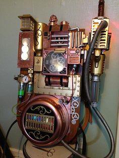 Steampunk Ghostbusters proton-pack by James Odinson Mclardy