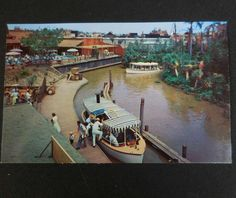 Vintage 1955 OPENING YEAR DISNEYLAND Postcard, Jungle Cruise Overview, #P12288