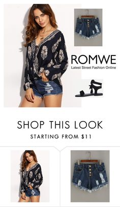 """10# Romwe"" by almamehmedovic-79 ❤ liked on Polyvore"