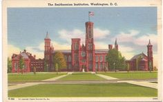 Smithsonian Institution vintage view My  Grandfathers family line donated the money to the United states to build a Learning institute.