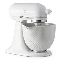 KitchenAid Artisan White Mixer with Hobnail Bowl - Pins Kitchen Aid Artisan, Kitchen Aid Mixer, Kitchen Appliances, Small Appliances, Kitchen Decor, Kitchen Design, Kitchen Ideas, Pantry Ideas, Jillian Harris