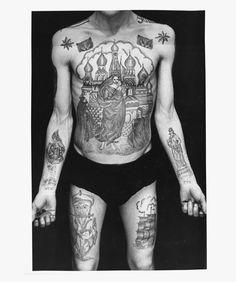 Soviet investigator's archive unlocks the key to the secret code of prison tattoos... http://www.we-heart.com/2014/11/10/arkady-bronnikov-russian-criminal-tattoo-police-files/