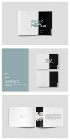 / US Letter - Graphic Design Portfolio Template This is 56 page minimal brochure template is for designers working on product/graphic design portfolios Portfolio Design Layouts, Architecture Portfolio Layout, Graphic Portfolio, Portfolio Covers, Template Portfolio, Design Portfolios, Landscape Architecture, Ed Design, Page Design