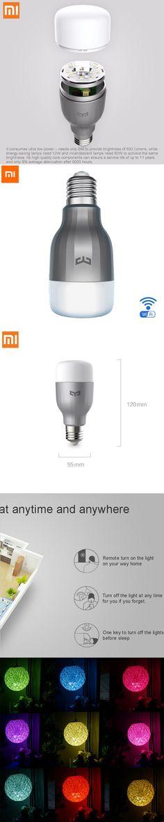 100% Original Xiaomi Mi Yeelight 2 LED Bulb Colorful Version Wifi Remote Control Adjustable Color Temperature 16 Million RGB