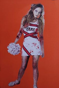 S Zombie Cheerleader Costume Dress Size 11 13 Xl Tag A Friend Who Can
