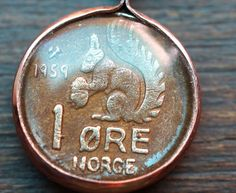 Vintage Squirrel Coin Pendant from Norway by Lorinda3LJewelry - $21.00