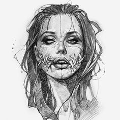 Álbuns de Artskillus • Эскизы • Тату • Рисунки #backtattoos #tattooforwomen Creepy Tattoos, Creepy Drawings, Dark Art Drawings, Art Drawings Sketches, Tattoo Sketches, Tattoo Drawings, Cool Drawings, Arte Horror, Horror Art
