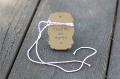 20 Kraft Label Tag Set, Custom Text, comes with Bakers Twine!!!!!!